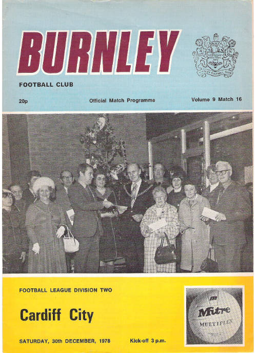 burnley fc programme