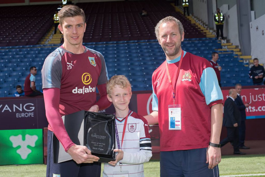 Clarets Trust   Player Of The Year - Nick Pope